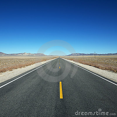 Highway stretching towards horizon.