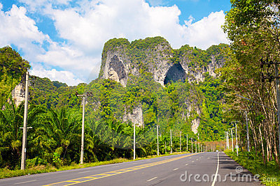 Highway in Thailand