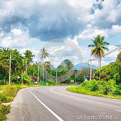 Highway in Thailand