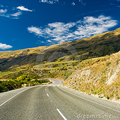 Free Highway Through Hills Royalty Free Stock Images - 7413939