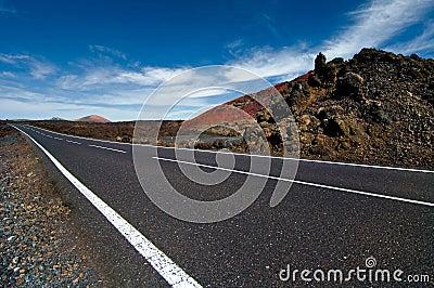Highway thrue the desert