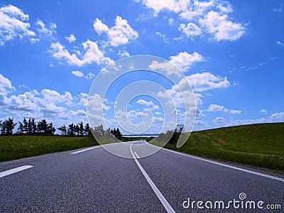 Highway in to horizon