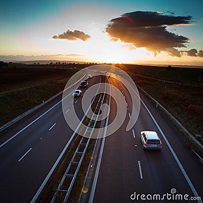 Free Highway Traffic Royalty Free Stock Photos - 24095708