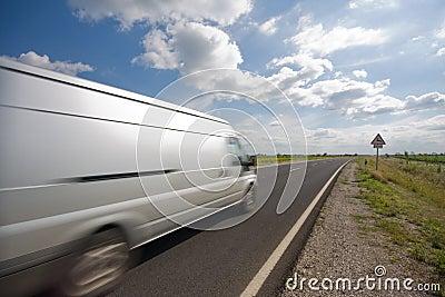 Highway with a van