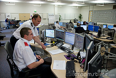Highways Agency Motorway Control Room Editorial Stock Photo