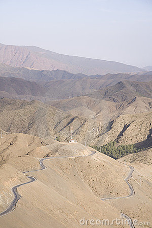 Highways over Atlas mountains