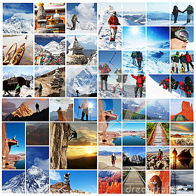 Hike Collage Royalty Free Stock Images - Image: 25225279