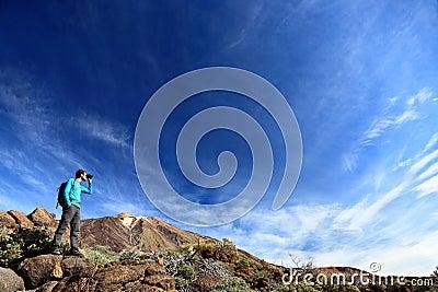 драматический ландшафт hiker
