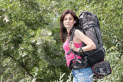 женщина hiker
