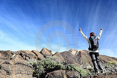 Hiker Cheering Stock Photography - Image: 23320042