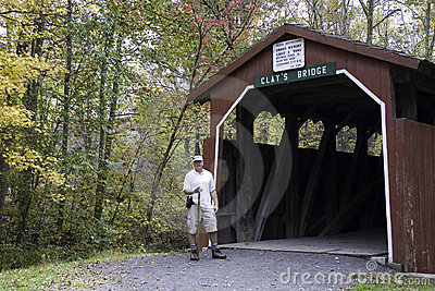 Hiker at Clays Bridge