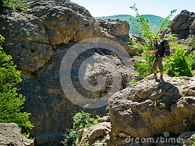 Hiker in Crimea