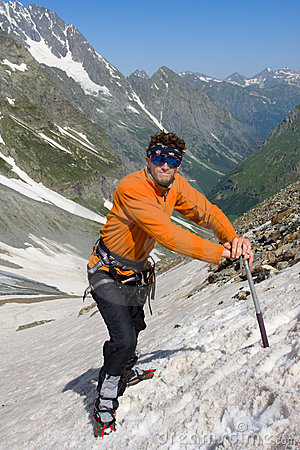 Hiker with ice-axe