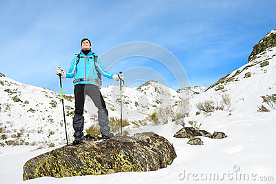 Hiker in mountain
