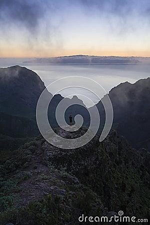 Hiker On Mountain Top Free Public Domain Cc0 Image