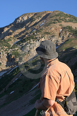 Hiker in mountains