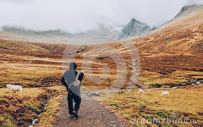 Hiker On Path In Mountains Free Public Domain Cc0 Image