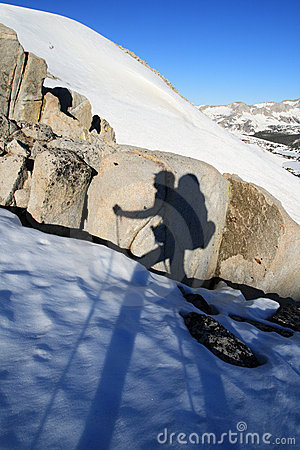 Hiker shadow