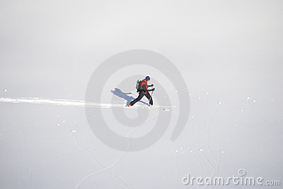 Hiker in the snow