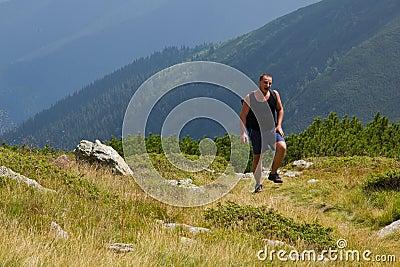 Hiker struggling to go on