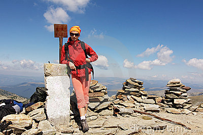 Hiker on the summit