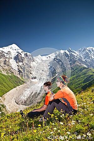 Hiker take a rest