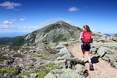 Hiker on way to summit