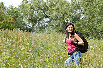 Hiker woman