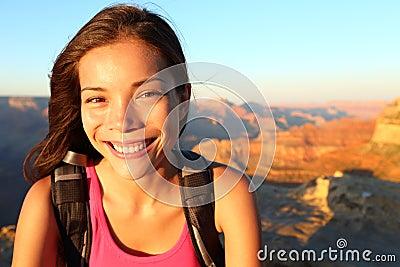 Hiker woman portrait