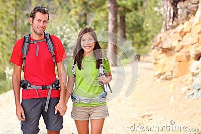 Hikers couple portrait