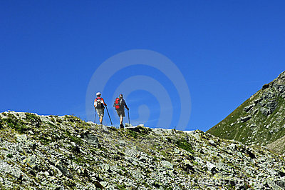 Hikers on the edge