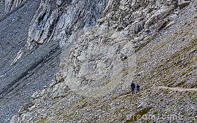 Hikers on the Eiger Trail