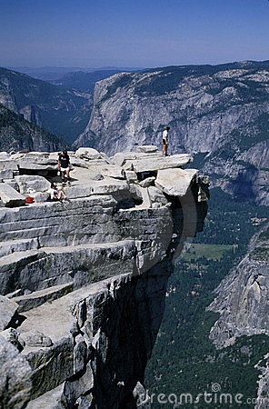 Hikers on Half Dome, Yosemite Park