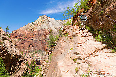 Hikers in Zion