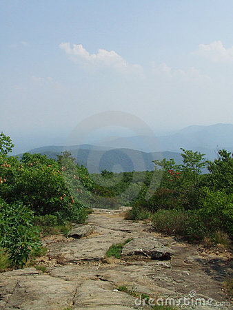 Hiking on Appalachian Trail at Blood Mountain