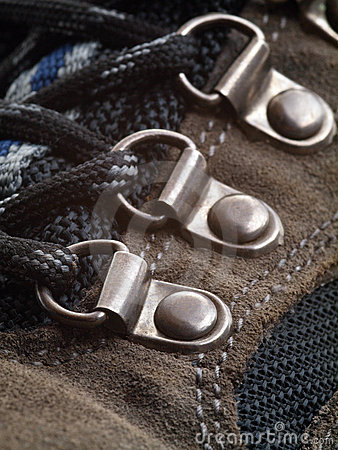 Hiking Boot shoelace eyelet perspective
