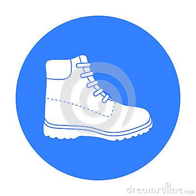 Free Hiking Boots Icon In Black Style Isolated On White Background. Shoes Symbol Stock Vector Illustration. Stock Images - 84709304