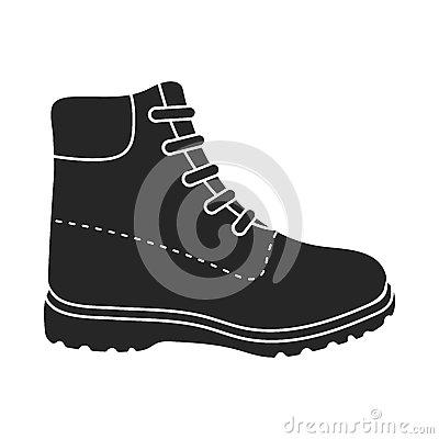 Free Hiking Boots Icon In  Black Style  On White Background. Shoes Symbol Stock Vector Illustration. Royalty Free Stock Image - 79506676