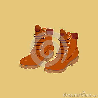 Hiking boots Vector Illustration