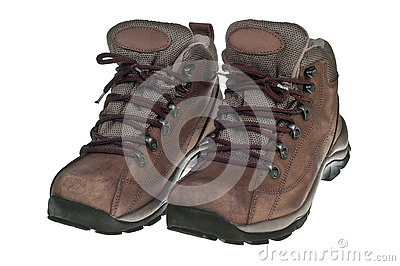 Used Hiking Boots Royalty Free Stock Photography - Image: 1766417