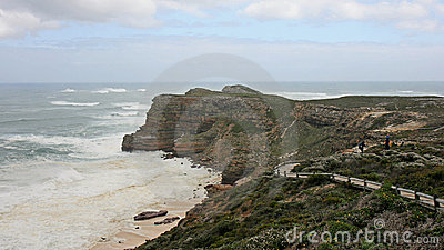 Hiking Cape of Good Hope on a stormy day