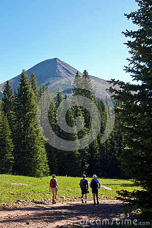 Hiking at elevation Editorial Stock Image