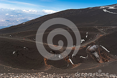 Hiking on  Etna