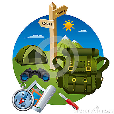 Hiking icon concept Vector Illustration