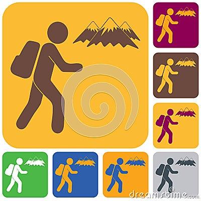 Free Hiking Icon Illustration Stock Photo - 119468640