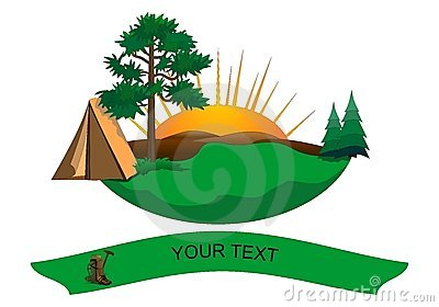 Hiking logo, cdr vector