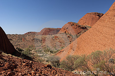 Hiking The Olgas Editorial Photography