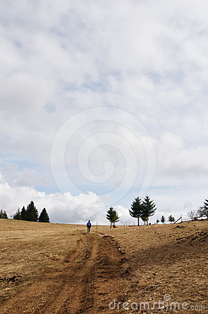 Free Hiking On A Cloudy Day Royalty Free Stock Photography - 24438707