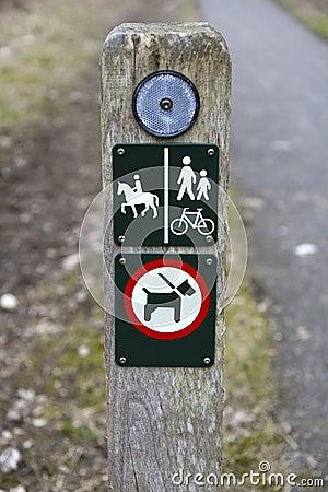 Hiking Path Signs