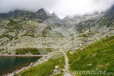 Hiking path in the wilderness. Slovakia